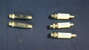Lot 5 Tektronix 011 0103 02 Termination 75 Ohm 3v Rms Attenuator 1 2w 011 061