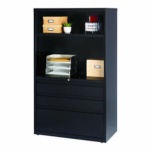 Hirsh Hl8000 Series 36 inch Wide 3 drawer Combo Commercial Lateral File Cabinet