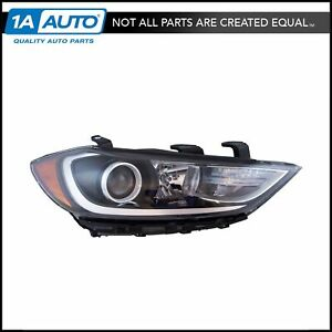 Halogen Headlight Headlamp Assembly W Led Running Lights Rh Rf For Elantra New