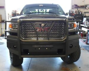 New Ranch Style Smooth Front Bumper 2015 2016 2017 2018 Gmc 2500 3500 Sierra