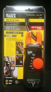 Klein Tools Cl3200 200a Ac Fork Tester Brand New Sealed Fast Delivery