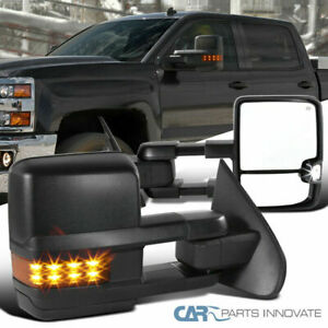 14 18 Silverado Sierra Power Heated Extending Towing View Mirrors led Signal
