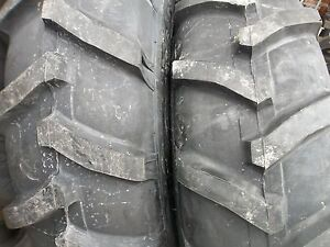 Two 13 6x28 13 6 28 John Deere 2030 8 Ply R 1 Bar Lug Tractor 2 600x16 Tires