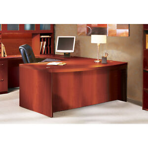 Mayline Aberdeen 72 Bow Front Desk With Modesty Panel