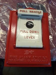 Vintage Gamewell Type 2513 Manual Pull Station