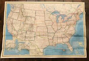 National Geographic Map July 1976 Portrait U S A The United States
