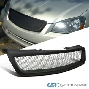 For 05 06 Nissan Altima Mesh Style Black Front Bumper Upper Hood Grille Grill