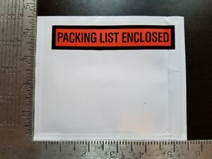 Packing List Envelopes Invoice Enclosed Slip Pouch Self Adhesive Shipping Labels