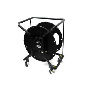 Canare R380 s Brake Lock Cable Reel W Cable Cut out Rolling Casters
