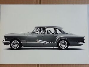 1962 Plymouth Valiant Studio Shot 12 X 18 Black White Picture