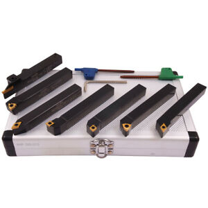 Pro series 7 Piece 1 2 Indexable Cut Off Turning Tool Set 2002 0113
