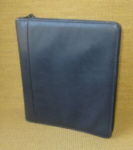 Monarch 1 25 Rings Blue Leather Franklin Covey quest Zip Planner binder