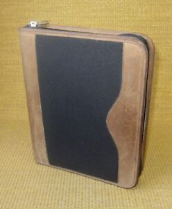 Classic 1 5 Ring Brown Leather Microfiber Franklin Covey quest Planner binder