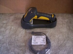 Symbol Ds3478 sf20005wr Wireless Barcode Scanner With Base And Usb Cable Tested