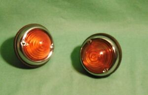 2 X Hella Turn Lights Lamps Glas Porsche 356 Pre A Porsche Speedster nos