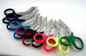 Pack Of 100 Emt Scissors 7 25 Assorted Colors Nurse Paramedic Shears