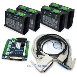 Cnc Kit 4 Axis Ma860h Stepper Driver For Nema23 34 42 With 5axis Breakout Board
