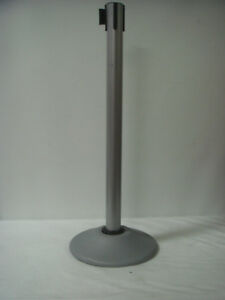 Heavy Duty Premium Steel Stanchion W 7 5 foot Retractable Belt 1