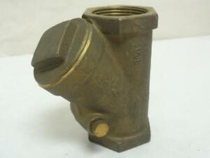 164776 Old stock Nibco T 413 y 1 1 4 Bronze Wye Check Valve 1 1 4 Fnpt