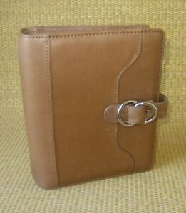 Compact 1 25 Rings new Brown Leather Franklin Covey Open Planner binder