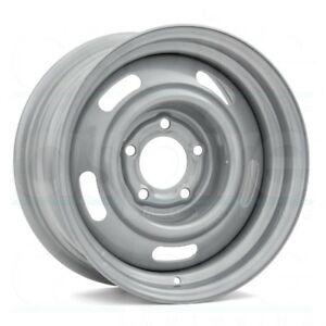 15x6 Vision 55 Rally 5x120 65 Et12 Silver Wheels Set Of 4