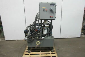 Hydraulic Power Unit 7 1 2hp 40 Gal Tank W valves Controls Heat Exchanger