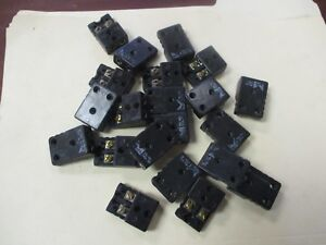 Marlin Mfg Used Black Thermocouple Connectors qty 21