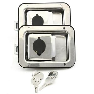 2 Toolbox Lock Stainless Door Paddle Handle Trailer Rv Latch Big 5 5 4 25 New