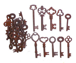 Skeleton Iron Keys Lot Of 25 Steampunk