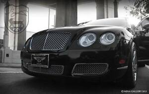 Bentley Gt Gtc Lower Bumper Mesh Grille Grill 3pc 2003 2004 2005 2006 07 08 09