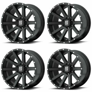 Set 4 16 Xd Series Xd818 Heist Black Wheels 16x8 6x4 5 10mm Dodge Dakota 6 Lug