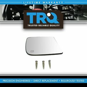 Towing Mirror Glass Heated 4 Clip Upper Passenger Side Rh For Dodge Ram Pickup
