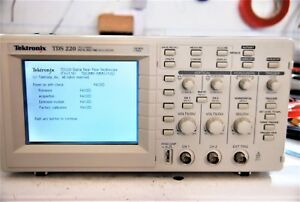 Reduced Tektronix Tds220 100mhz 2ch Digital Real Time Oscilloscope tested