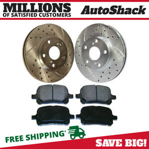 Front Drilled Slotted Brake Rotors Ceramic Pads For 1997 1999 Toyota Camry 3 0l