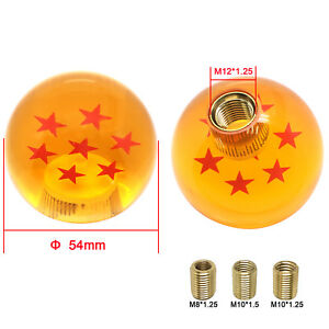 Dragon Ball Z 7 Star 54mm Shift Knob With Adapters Universal Will Fit Most Cars