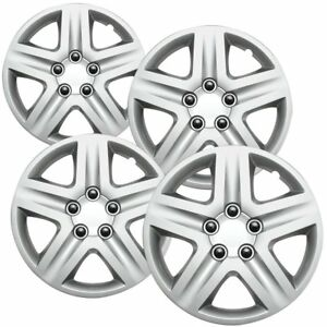 4pc Hubcaps Fits Chevy Impala 16 Inch Silver Replacement Wheel Rim Skin Cover