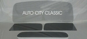 Glass 1937 1938 Chevy Pickup Truck Windshield Doors Back Smoke Grey