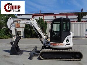 Bobcat 435hag Mini Excavator Backhoe Loader Enclosed Cab Hydraulic Thumb