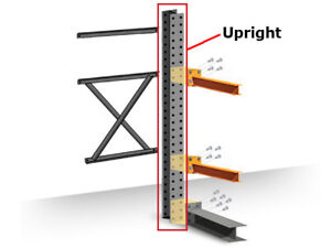 Structural Cantilever Racking Uprights 12 Heavy Duty Double Sided Upright