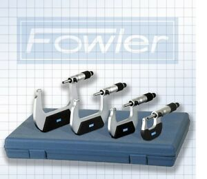 Fowler 4 Pc Outside Micrometer Metric Set 0 100mm