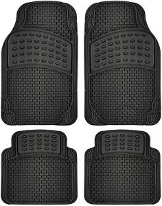 Car Floor Mats Fits All Weather Rubber 4pc Set Semi Custom Fit Heavy Duty
