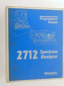 1991 Tektronix 2712 Spectrum Analyzer Programmer s Manual