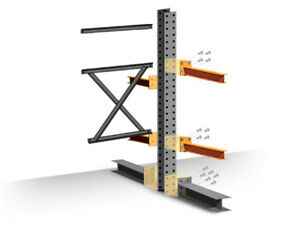 Cantilever Rack Add on Kit Double Sided 8 h X 48 d X 48 w With 4 h Arms
