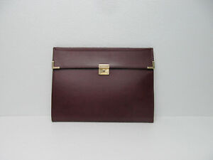 Hazel Usa America s Case Maker Burgundy Leather Portfolio Folder Organizer