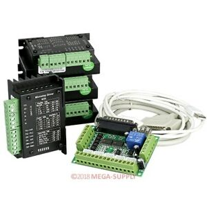 Cnc Kit 4 Axis Cnc Breakout Board 4 M335 Stepper Driver Controller 0 5 3 5a