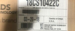 18cs10422c Goulds 18gpm 1hp Submersible Water Well Pump W 230v 2 Wire Motor