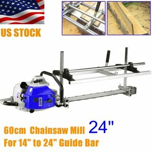 Fit 14 24 Chainsaw Guide Bar Chain Saw Mill Log Planking Lumber Cutting Tool