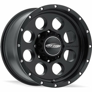 17x9 Black Pro Comp Series 45 syndrome Wheels 8x6 5 6 Lifted