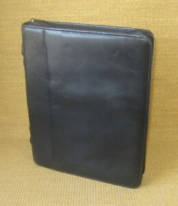 Monarch folio 1 25 Rings Black Leather Boulder Ridge Planner binder Franklin
