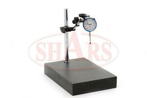 Shars Granite Surface Check Comparator Stand Plate 1 001 Dial Indicator Gage
